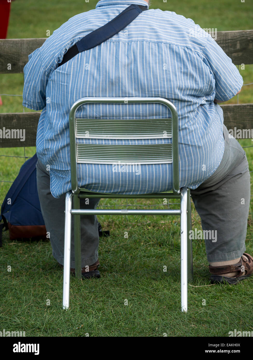 fat man on chair