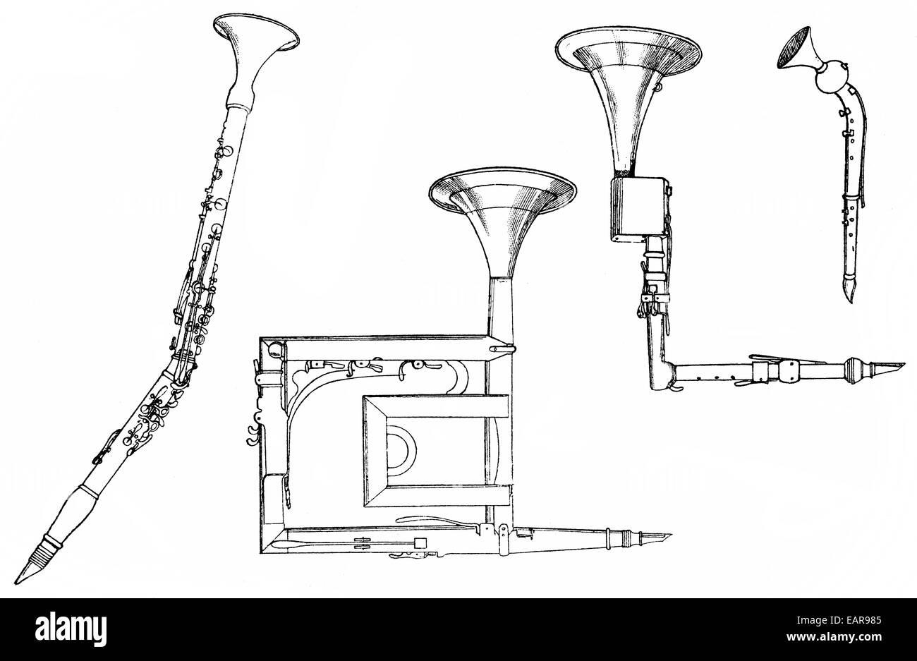 hight resolution of woodwind instruments basset horn or corno bassetto basset clarinet holzblasinstrumente bassetthorn oder