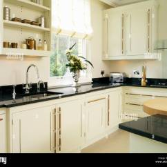Shelf Above Kitchen Sink Leaking Kohler Faucet Shelves Stock Photos And
