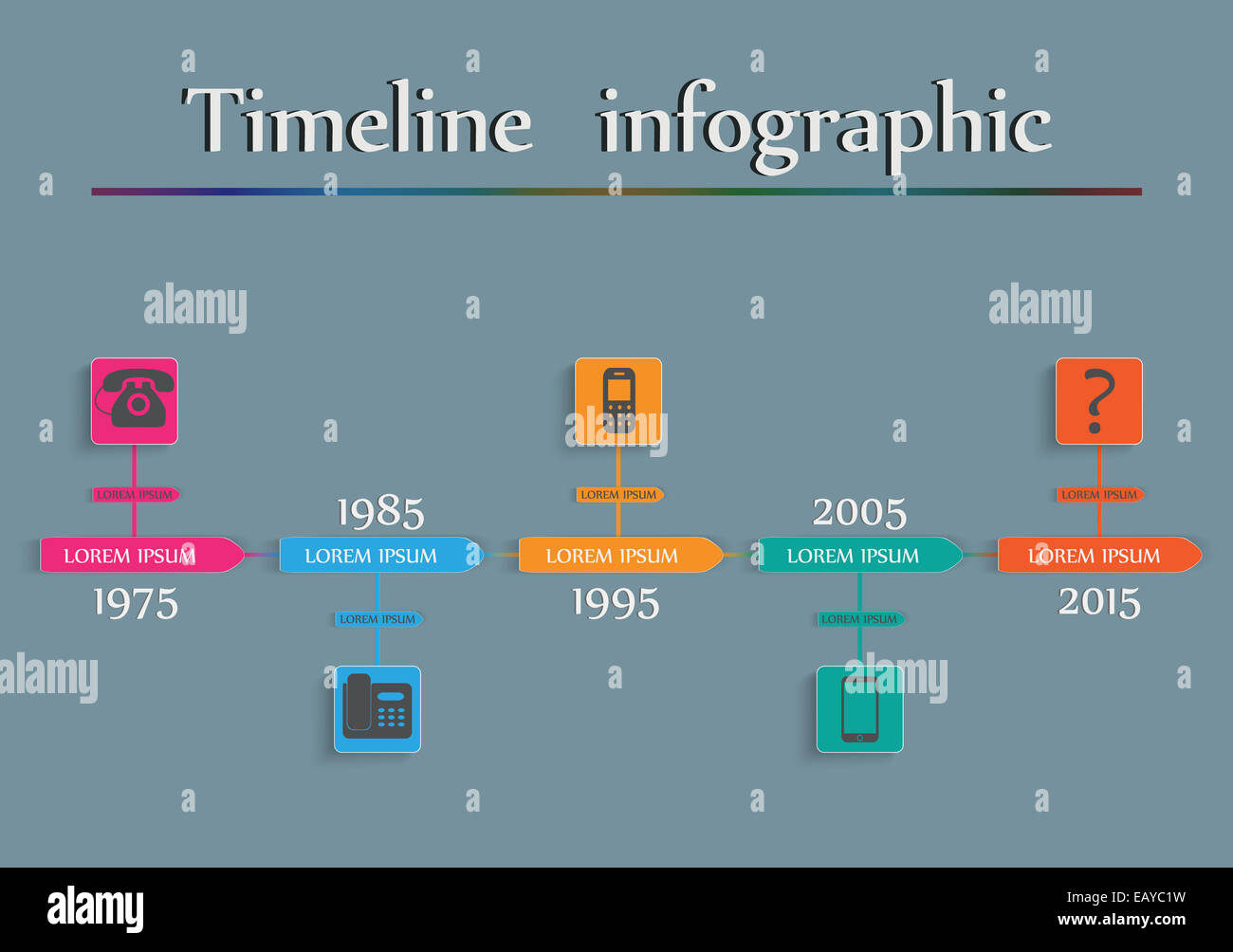 diagram of evolution timeline 98 ford f150 radio wiring infographic phone vector stock photo 75590197