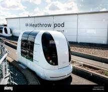 Heathrow Terminal 5 Transport Pod Stock Royalty