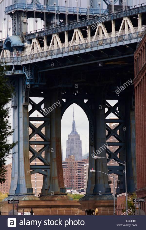 Empire State Building Manhattan Bridge