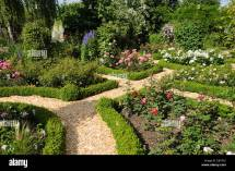 Rose Garden with Boxwood Hedge
