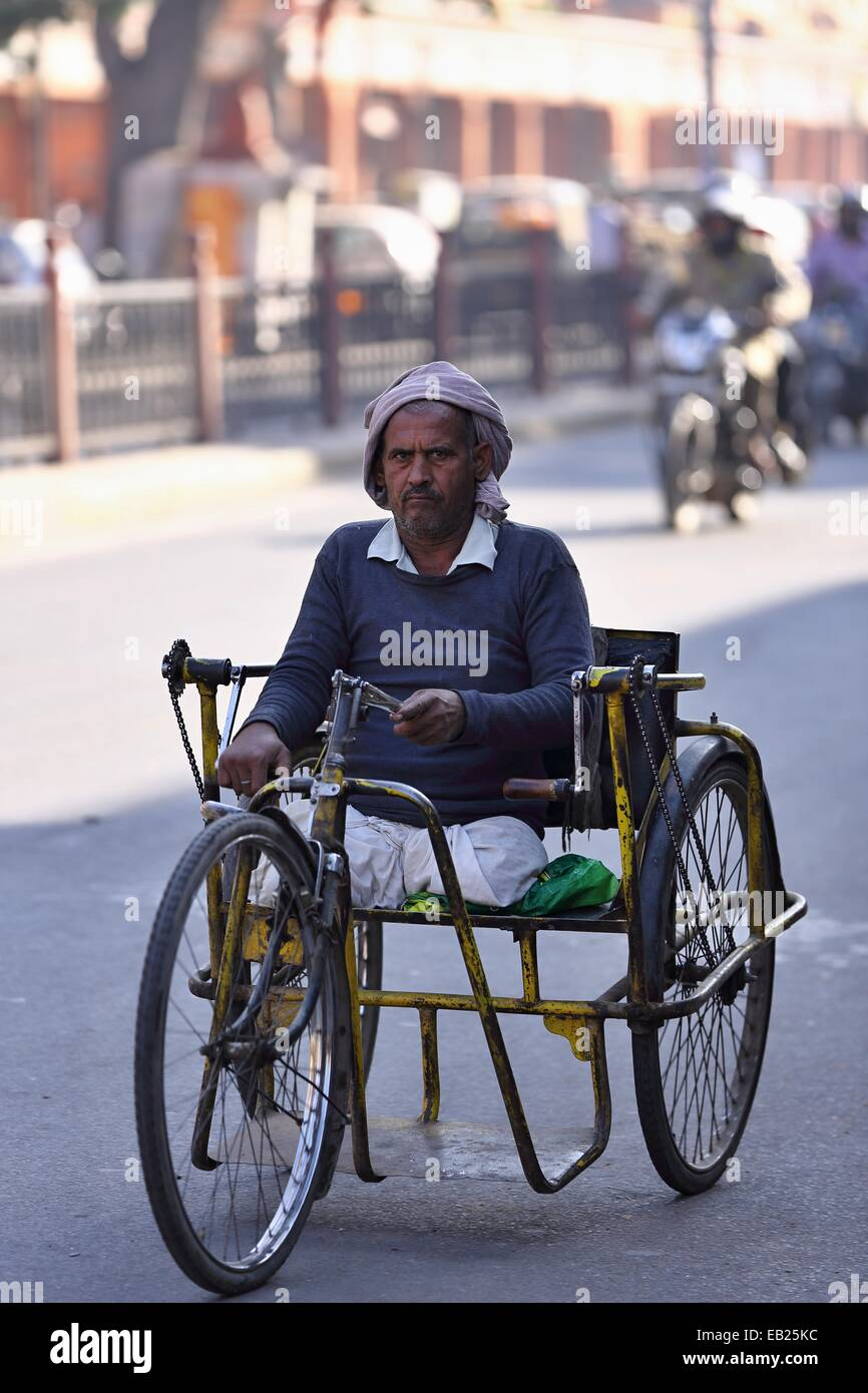wheelchair man camel leather chair indian handicapped on a wheel india stock photo 75651056