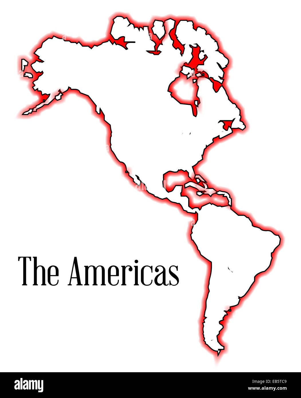 Outline Map Of The Americas Both North And South