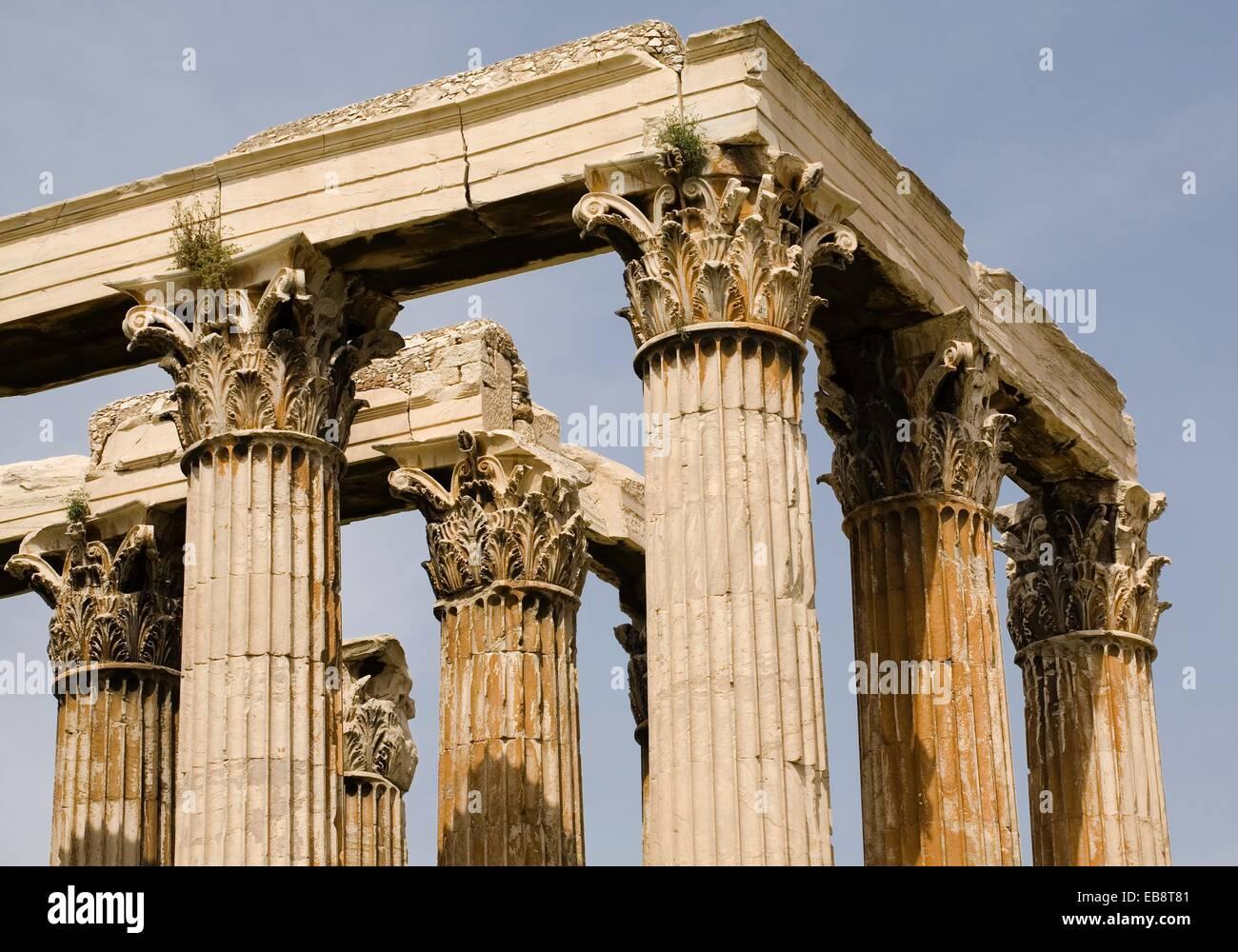 Temple Of Olympian Zeus Corinthian Columns And Capitels