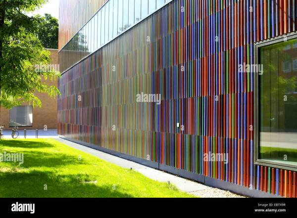 Colourful Ceramic Facade Of Museum Brandhorst Modern And Stock 76150195 - Alamy