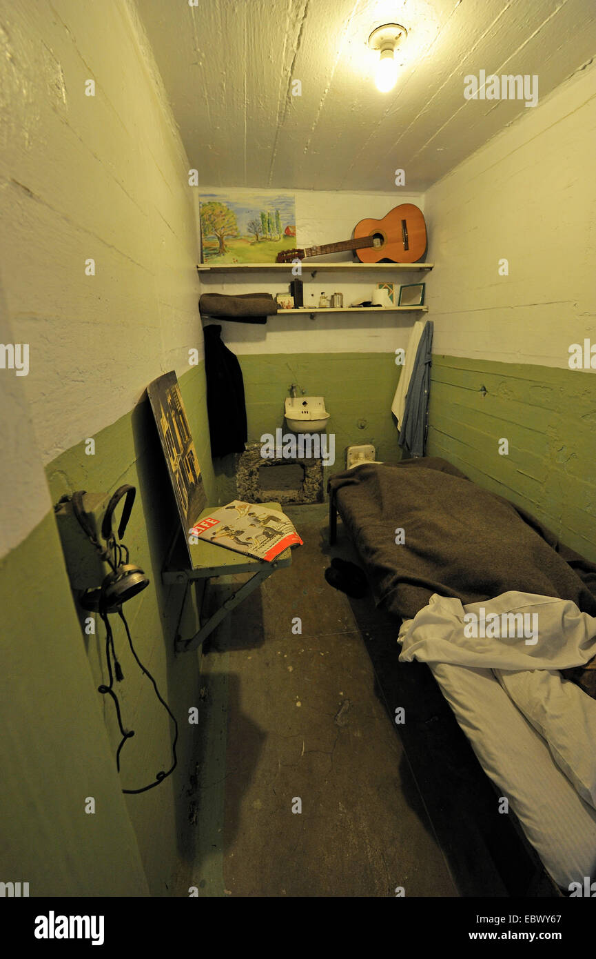 prison cell USA California Alcatraz Island Stock Photo