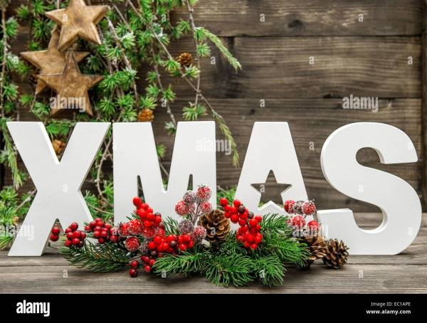 Letter Made Christmas Tree Branches Stock Photos & Letter ...