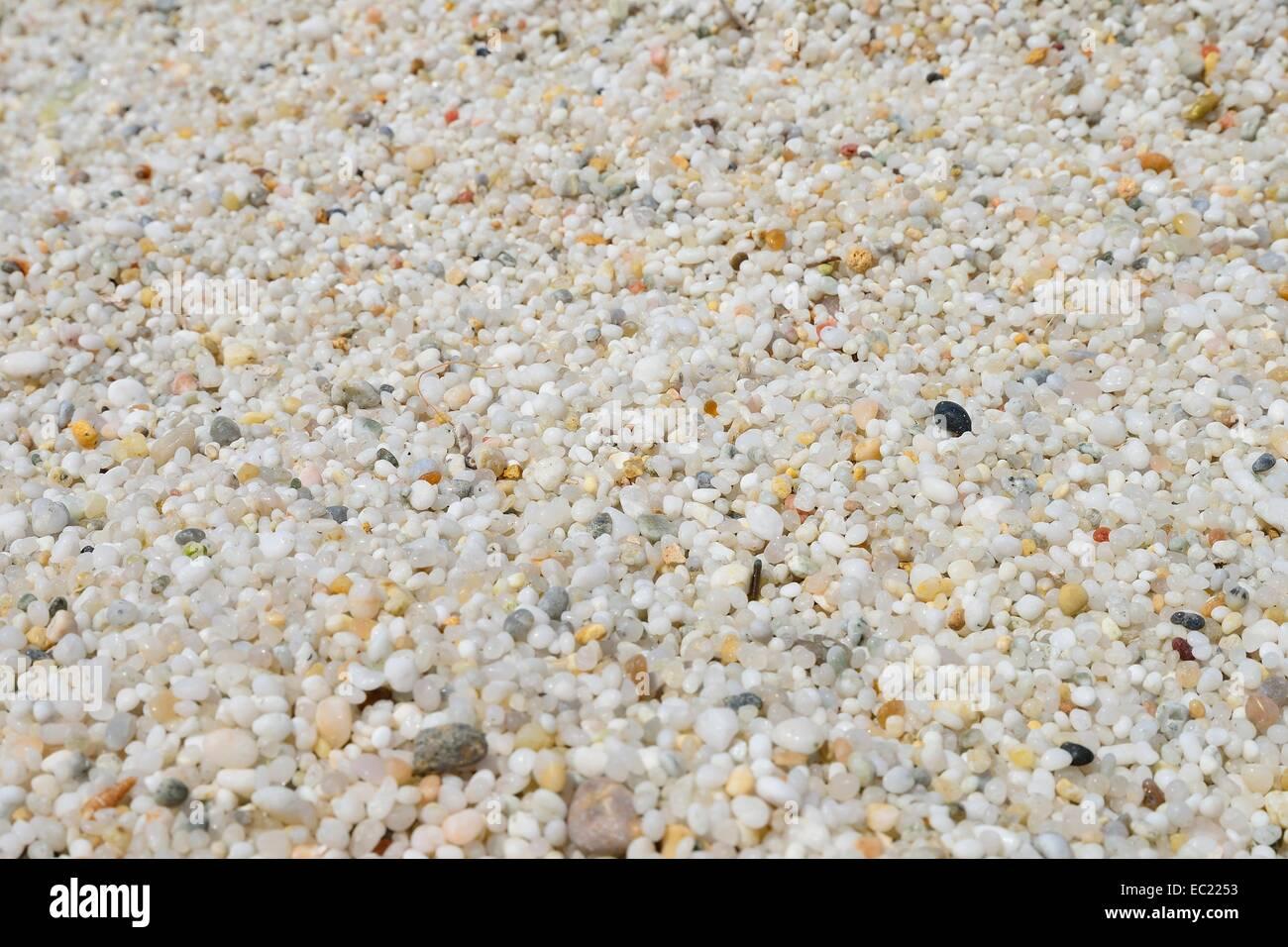 Quartz sand in rice size on Is Arutas beach. Sinis peninsula Stock Photo: 76262959 - Alamy