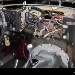 Ecm Wiring Diagram Club Car 12v Battery The Dashboard Of A Jaguar E Type V12 At Repair Shop Stock Photo, Royalty Free ...