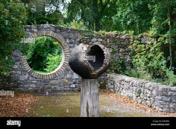 Wood Wooden Egg Sculpture Art Installation Birr Castle