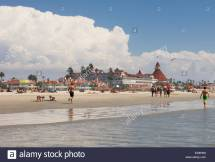 Hotel Del Coronado Beach Stock &