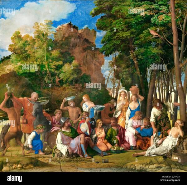 Giovanni Bellini Feast Of Gods 1514-1529 Oil