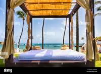 Cabana Tent on a Caribbean Beach, San Juan, Puerto Rico ...