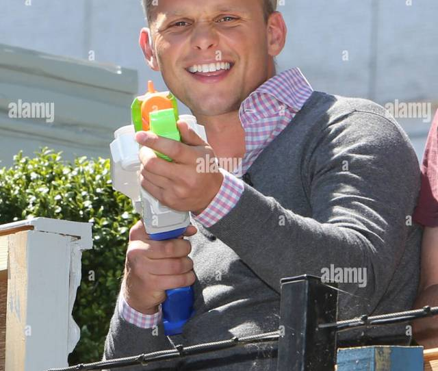 Jeff Brazier Squirting Water At The Loose Women During Filming Featuring Jeff Brazier Where London United Kingdom When