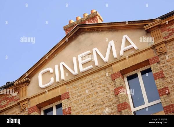 Cinema Sign Facade Of Building In Sedan