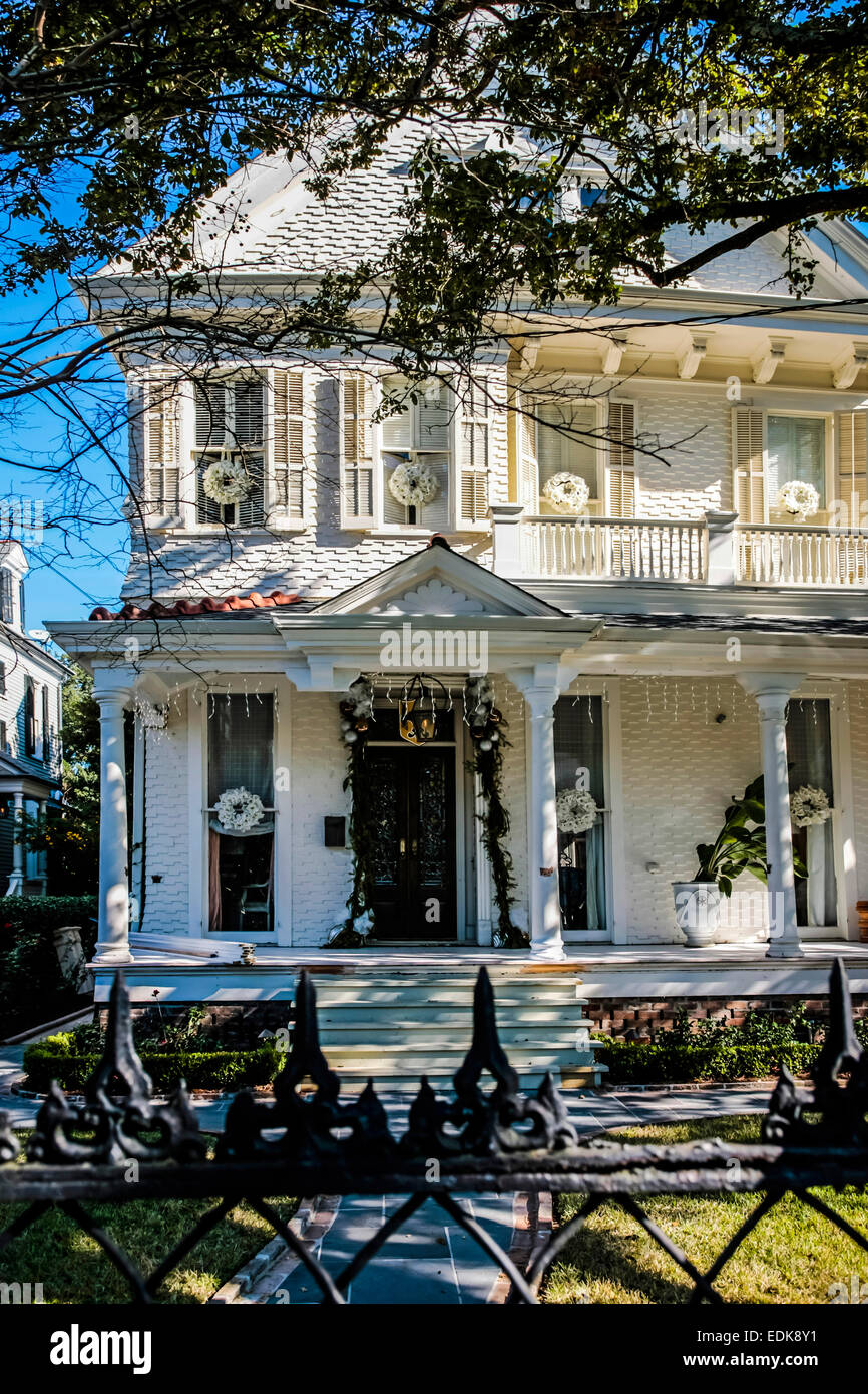 French Colonial Style House : french, colonial, style, house, French, Colonial, Style, House, Garden, District, Orleans, Stock, Photo, Alamy