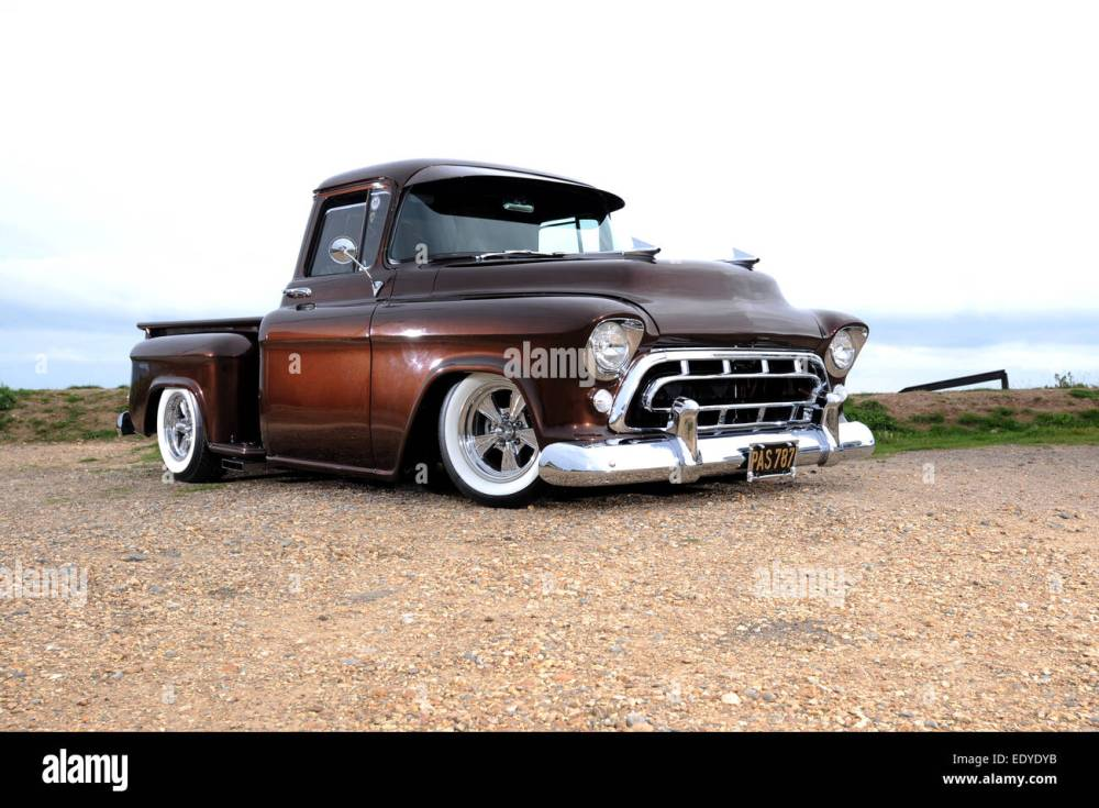medium resolution of modified 1957 chevy 3100 step side pickup truck