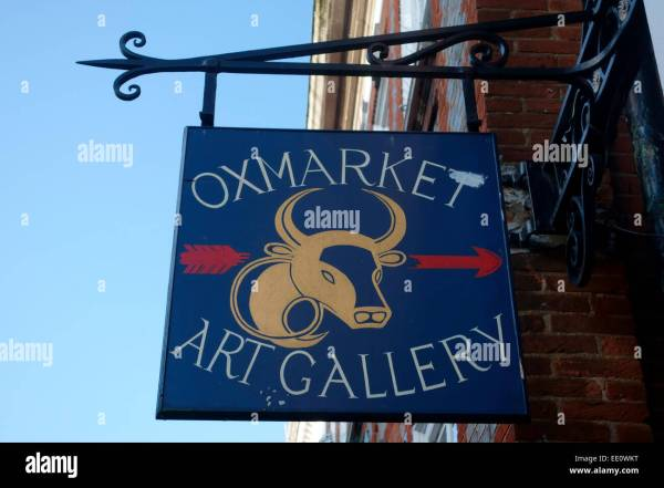 Oxmarket Art Sign Chichester West Sussex Uk Stock Royalty Free 77466812
