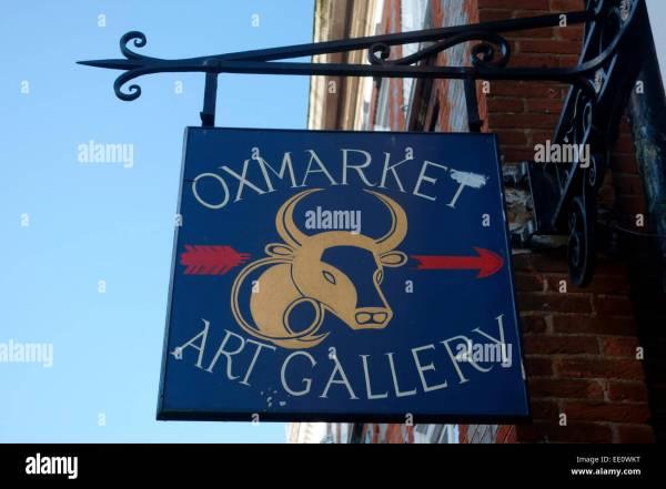 Oxmarket Art Sign Chichester West Sussex Uk