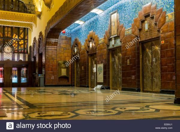Lobby Of Historic Art Deco Marine Building