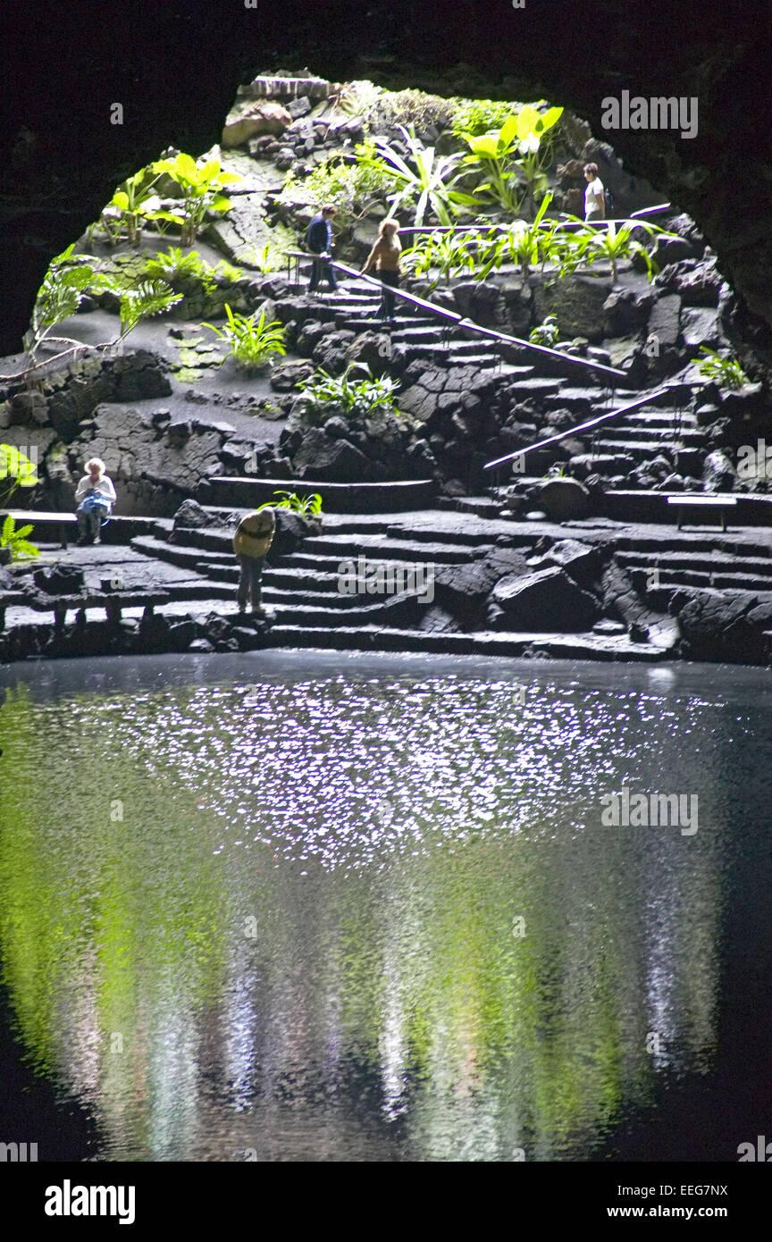 Jameos Del Aqua Grotte Wasser Hoehlensystem Lavahoehlen C