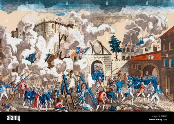 Storming Of Bastille Paris France 14 July 1789