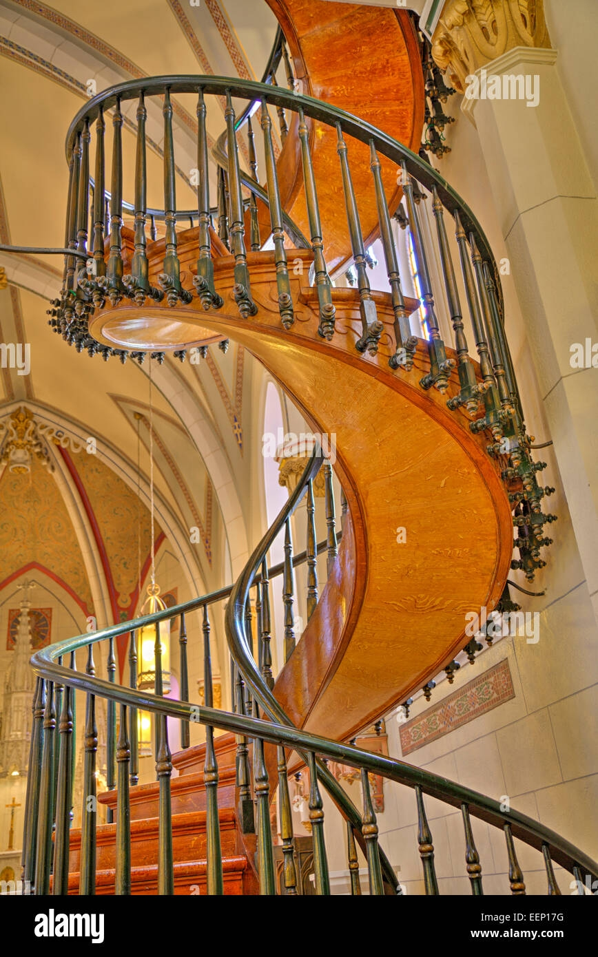Loretto Chapel Spiral Staircase High Resolution Stock Photography | The Staircase Of Loretto Chapel | Original | Light | Weird | Stairway | Magical