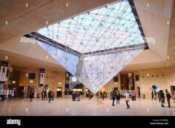 Inside Louvre Museum Paris