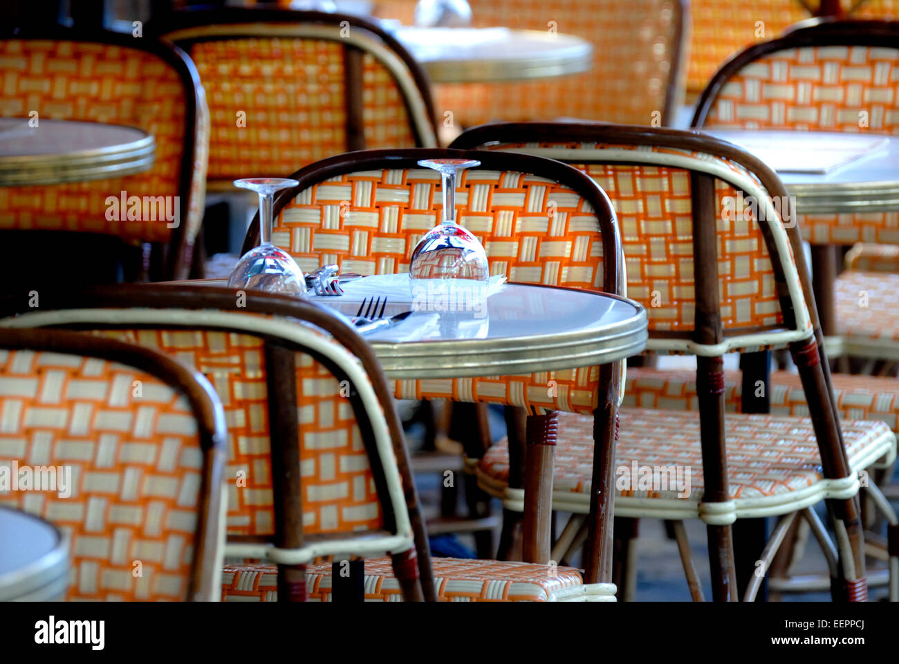 parisian cafe table and chairs herman miller swoop chair paris stock photos france typical image