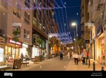 Christmas Shopping In Sliema Valletta Malta Eu Europe