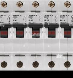 electrical circuit breaker fuse box switches stock photo 78036113 replace fuse box with breakers electrical circuit [ 1300 x 944 Pixel ]