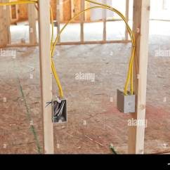 Electrical Wiring Diagram For New House Fuel Pump Harness In Home Construction Stock Photo