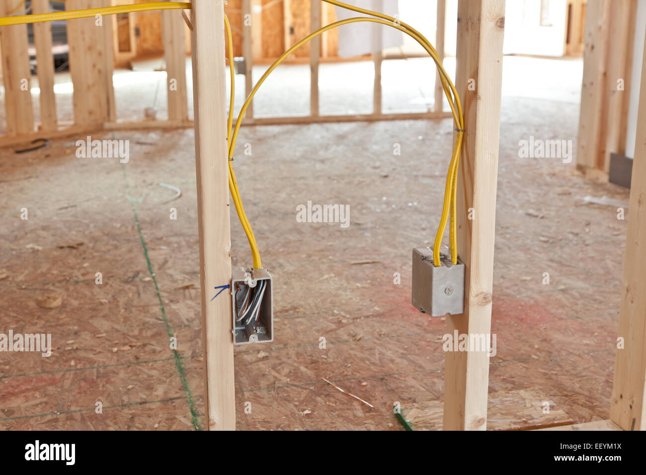 hight resolution of new home house wiring wiring diagram mega electrical wiring in new home construction stock photo 78055094