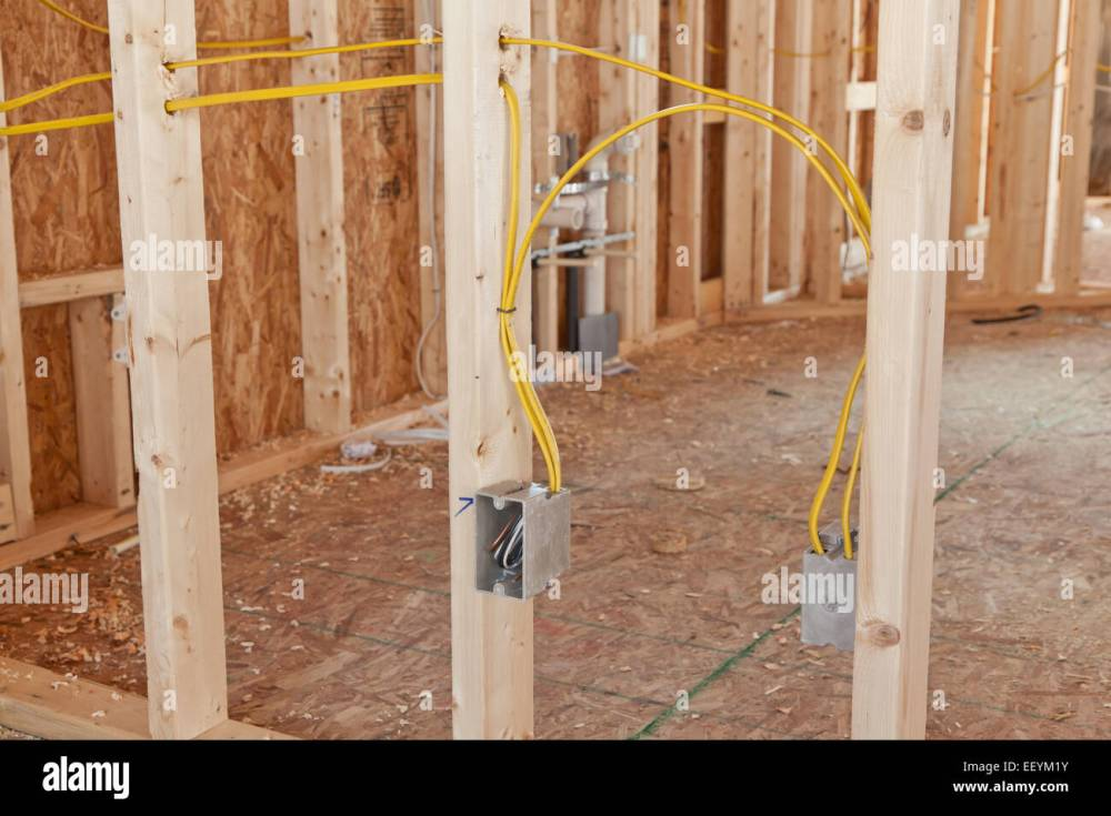 medium resolution of electrical wiring to receptacle boxes in a new home under stock house wiring electrical wiring to