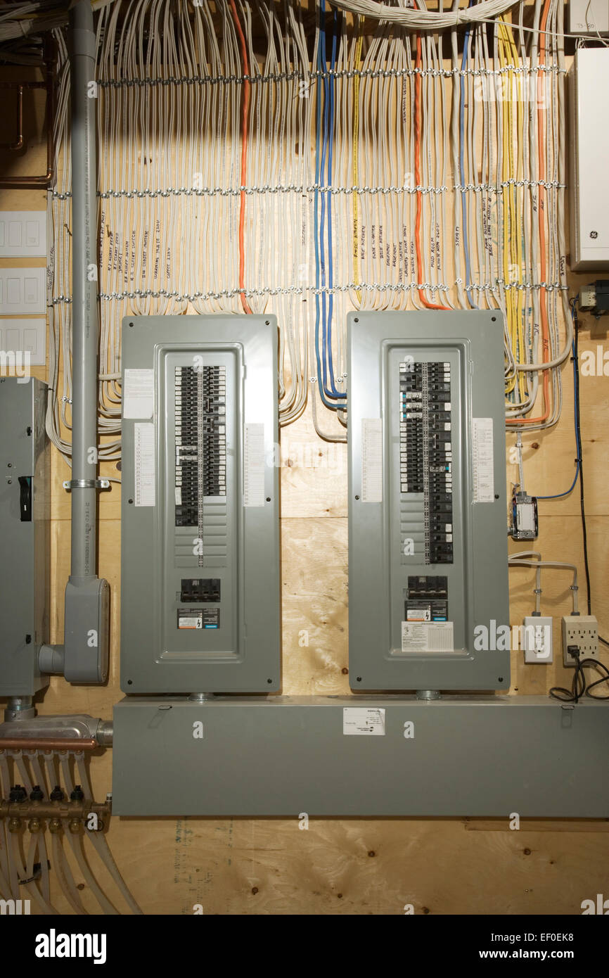 medium resolution of electrical panel in house