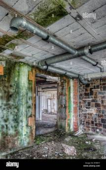 Interior Of Abandoned Hotel Stock Royalty Free