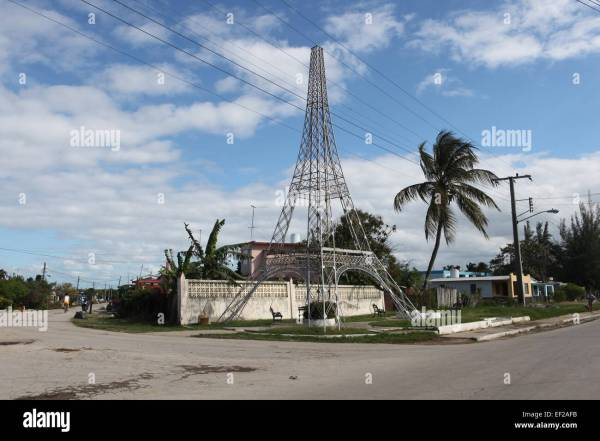 An unfinished Eiffel Tower in Caibarien Villa Clara Cuba