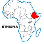 Ethiopia Outline Inset Into A Map Of Africa Over A White Background Stock Photo Alamy
