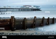 Cromer Pier And Beach In Winter Norfolk England Stock