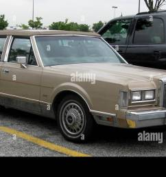 1988 lincoln town car 08 28 2009 stock image [ 1300 x 776 Pixel ]
