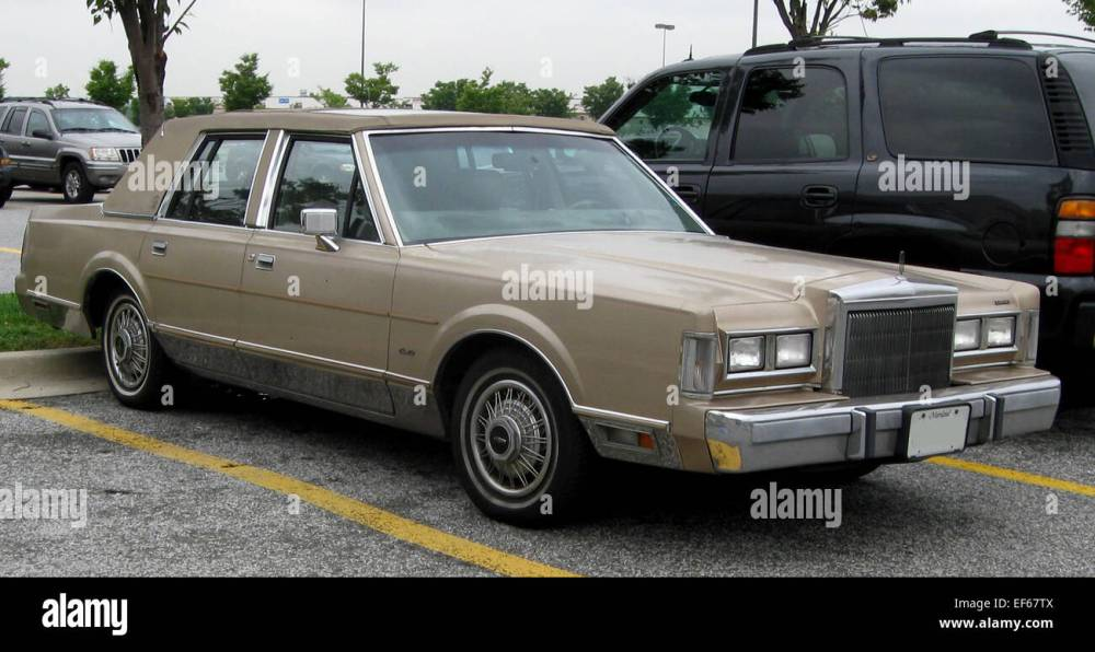 medium resolution of 1988 lincoln town car 08 28 2009 stock image