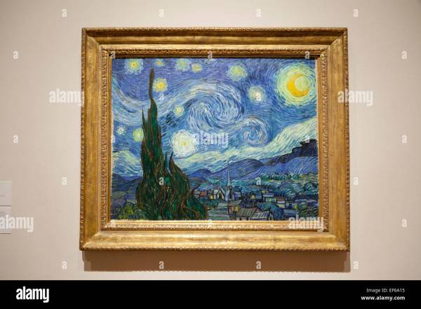 Starry Night 1889 Painting Vincent Van Gogh Moma