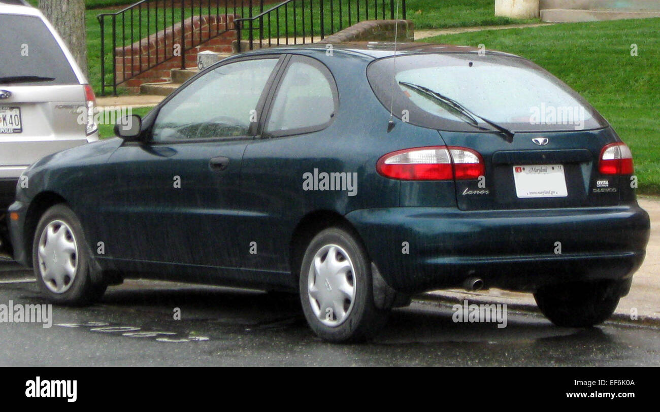 hight resolution of daewoo lanos hatchback 04 22 2011 rear stock image