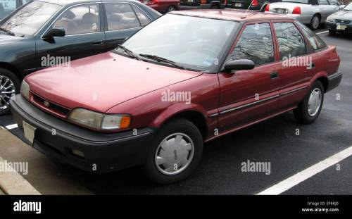 small resolution of geo prizm hatchback stock image