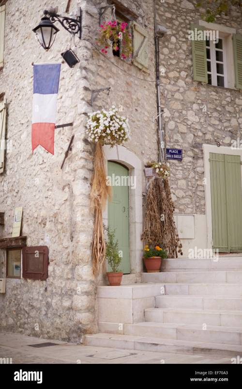 small resolution of the lovely town of la colle sur loup in the south of france stock image