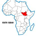 South Sudan Outline Inset Into A Map Of Africa Over A White Stock Photo Alamy