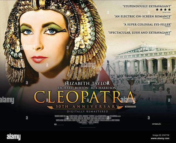 Elizabeth Taylor Poster Cleopatra 1963 Stock