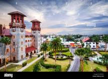 St. Augustine Florida Usa Town View City Hall And